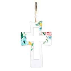 Hanging Cutout Cross-Floral...