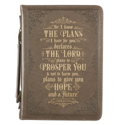 Bible Cover LG Taupe I Know...