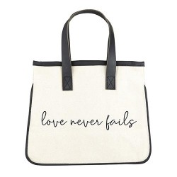Mini Tote Bag-Canvas-Love...