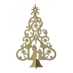 Nativity Tree-Gold (9.7/8 x...