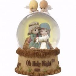 Snow Globe-Nativity/Oh Holy...