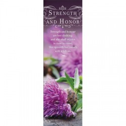 Bookmark-Strength And Honor...