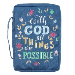 Bible Cover Value LG Navy...