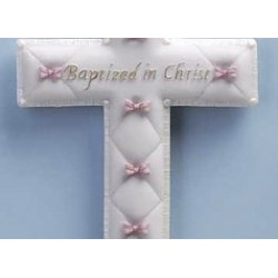 "Wall Cross-Baptism-Girl (6.5"")"