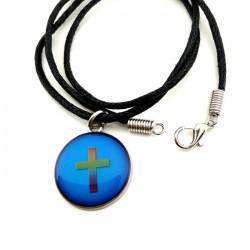 Necklace-Mood Round Cross...