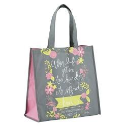 Tote Bag-Nylon-When Life...
