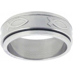 Ring-Ichthus Spinner-Style...