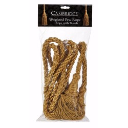 Weighted Pew Rope-20'-Gold