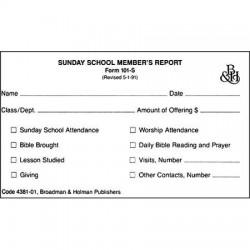 Form-Sunday School Member...