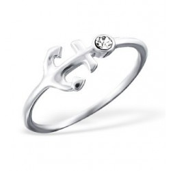 Ring-Anchor w/Crystal-Style...