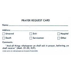 Card-Prayer Request Card...