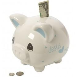 Piggy Bank-Jesus Loves...