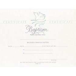 Certificate-Baptism/Dove...