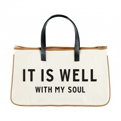 Tote-Canvas-It Is Well With...