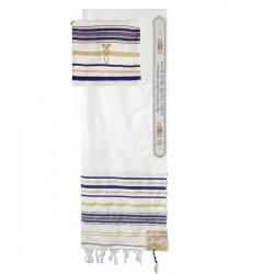 Prayer Shawl-Blue w/Bag...