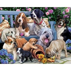 Jigsaw Puzzle-Dogs On A...