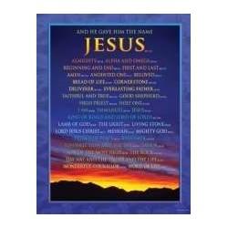 "Chart-Names of Jesus (17"" x..."