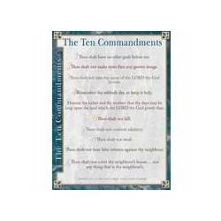 Chart-Ten Commandments...
