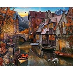 Jigsaw Puzzle-Autumn Canal...