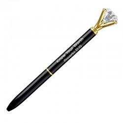 Pen-Gem-Know Your Worth-Black