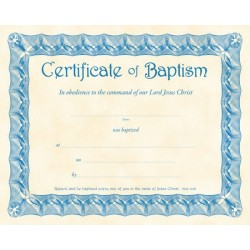 Certificate-Baptism (Acts...