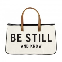 Tote-Canvas-Be Still And...