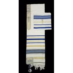 Prayer Shawl-Blue w/English...