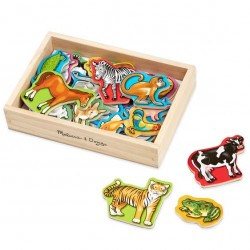 Magnets-Wooden Animals...