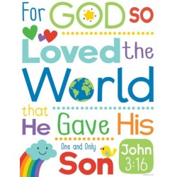"Chart-John 3:16 (17"""" X 22"""")"
