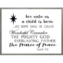 Framed Art-Prince Of Peace...
