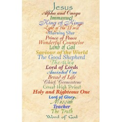 Postcard-Names Of Jesus...