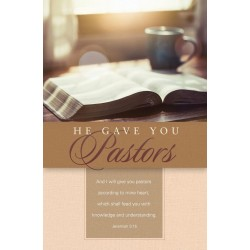 Bulletin-And He Gave You...