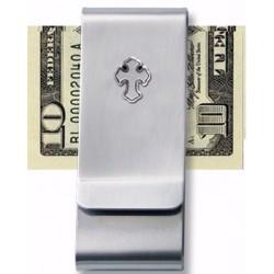 """Money Clip-w/Cross-Silver (2"""")"""