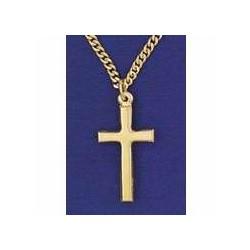 """Necklace-Cross-Plain w/24""""..."""