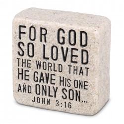 Plaque-Cast Stone-Scripture...