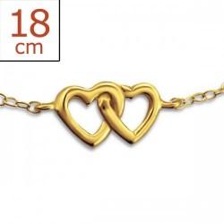 Bracelet-Chain Double Heart...