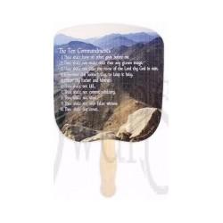 Hand Fan-Ten Commandments...