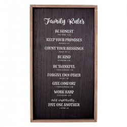 Wall Plaque-Family Rules...