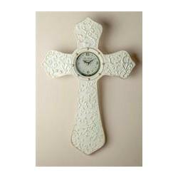 Wall Clock-Cream Cross...
