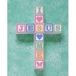 Wall Cross-Jesus Loves Me...