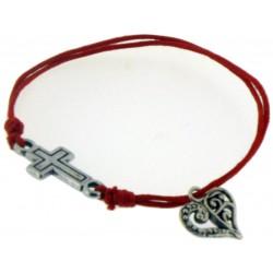 Bracelet-Red Cotton...