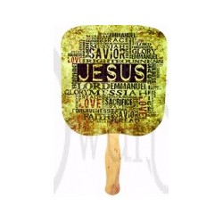 Hand Fan-Jesus Our Savior...