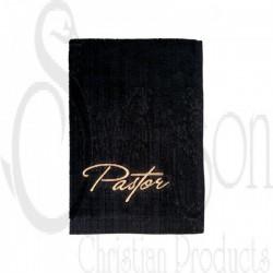 Towel-Pastor-Black w/Gold...