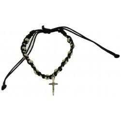 Bracelet-Dark Black Cotton...