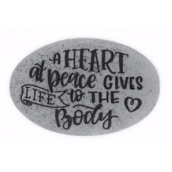 Proverb Stone-A Heart At...