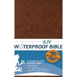 KJV Waterproof Bible-Brown