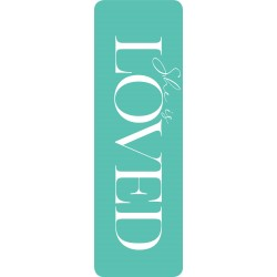 Bookmark-She Is Loved-Faux...