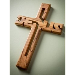 Cross-Olive Wood-Wall-Large...