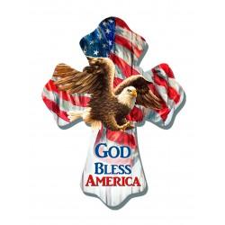 Wall Cross-Eagle/God Bless...