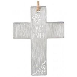 """Necklace-Cross-Have Faith (4"""")"""